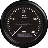 85m m Tachometer RPM Gauge con Hour Meter 0-4000rpm con Backlight
