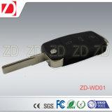 Sensación RF de la alta calidad del nuevo producto 433/315 megaciclo de 3 botones del coche de la llave del uso Zd-Nb01 teledirigido universal