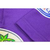 Massenpurpurrotes normales gedrucktes Sport-Großhandelst-Shirt für Männer