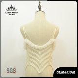 女性の通りの方法スリップのかぎ針編みのレースのセーターのベスト