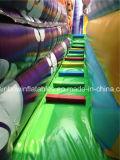 Скольжение джунглей Clourful популярной конструкции гигантское раздувное с игрой животных платформы и шаржа