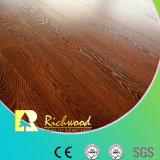 12.3mm E0 HDF AC3 geprägter schalldämpfender lamellenförmig angeordneter Fußboden