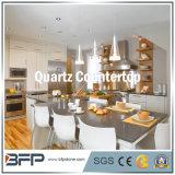 Uitstekende kwaliteit van Kwarts, Kunstmatige Steen, Nano Steen, Wit Kwarts, de Plakken van het Kwarts voor Countertop van de Keuken met de Behandeling van de Rand Bullnose