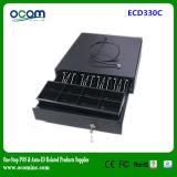 Black Rj11 POS Metal Cash Drawer com 12V / 24V Opcional