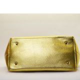 Мешок Tote цвета металла золота женщин