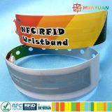 Bracelete descartável Ultralight do parque MIFARE EV1 RFID da água