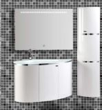 LED MirrorとのWall Mounted現代PVC Bathroom Vanity
