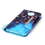 Moonlight Funda de cuero PU Funda de Filp para iPhone6 ​​6s