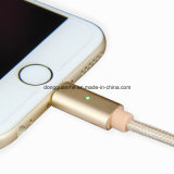 8pin cable certificado Mfi de aluminio del relámpago LED para el cable de carga de los datos del USB del SE 5s 6 6s del iPhone 5