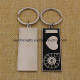Trousseau de clés fait sur commande d'émail en métal de quantité élevée à vendre