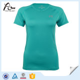 ODMの女性のTシャツのスポーツチームカスタム運動摩耗