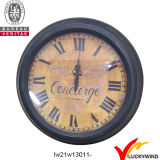 Round Wall Decor Vintage Retro Metal Clock