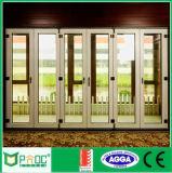 Porta de alumínio deslizante tripla de alumínio da porta deslizante