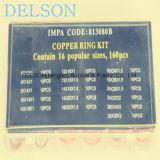 Anel-O de cobre personalizado da qualidade 16size 160PCS de Hihg
