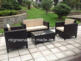4PCS novo Rattan Wicker Furniture para Outdoor Conservatory