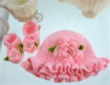 Handmade вязание крючком милое для ботинок младенца