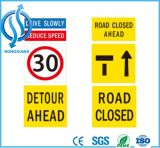도로 안전 대 널 표시가 오스트레일리아 경고에 의하여 직류 전기를 통했다