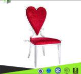 Modernes luxuriöses Chromstahl-Fuß PU-Leder, das Stuhl (B8082, speist)