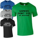 T-shirt unisexe promotionnel de 100%Polyester Crewneck avec la chemise courte (A274)