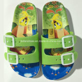Новая тапочка сандалии ЕВА шаржа печати малышей способа типа (FY16)