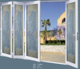 Puerta de lujo de aluminio blanca de la puerta de plegamiento para la casa