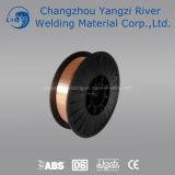 Rolo plástico plantado de cobre do fio de soldadura do RUÍDO Sg2 de 5kg