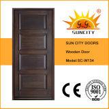 Projeto de madeira contínuo interior da porta principal do estilo de Turquia (SC-W134)