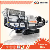 Large Capacity를 가진 천정점 Crawler Type Mobile Crusher