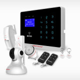Sistema de alarme sem fio de intrusão GSM com cartão RFID