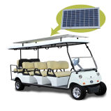 Carro de golf de 6+2 Seater con el tronco delantero y el panel solar
