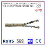 Datilografar a fibra de vidro de T isolada/trançou o cabo da compensação do par termoeléctrico