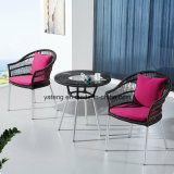 Cadeira interna do café da mobília da cadeira nova do café do Rattan do pátio da cadeira do café da barra do café do projeto