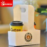 처분할 수 있는 서류상 커피 잔 쟁반