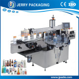 Vertical Food Cosmetic Biberon à double face Sticker Label Labelling Machinery