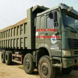 使用されたMilitary Heavy HOWO Tipper Truck (8*4タイヤ、4-AXLE、2008Y)