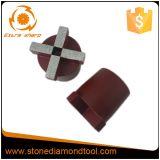 Fiche de meulage de diamant abrasif concret de Terrco de 4 segments