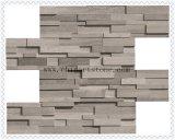Pedra de mármore de madeira branca da cultura da ardósia de China para o revestimento da parede