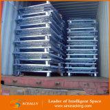 Stahldraht-Korb/stapelbarer gefalteter Maschendraht-Behälter