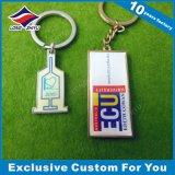 Acryldrucken-kundenspezifische Form Keychain roter Inner-Schlüsselring