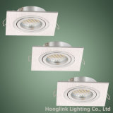 Halógeno ajustable LED Downlight ahuecado cuadrado del aluminio GU10 MR16