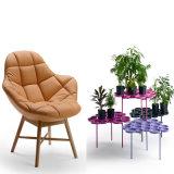Berühmter Entwerfer-neuer Entwurfs-Wohnzimmer-Stuhl mit dem festes Holz-Bein