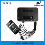 Mini système de d'éclairage portatif d'énergie solaire de projet avec le chargeur de panneau solaire de 11V 4W et de téléphone d'USB (PS-K013)
