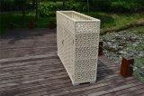 Cabina de almacenaje de mimbre de la rota del hogar y del jardín del patio de la resina impermeable