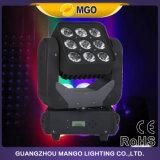 Luz principal móvil de la matriz de la iluminación 9X12W RGBW LED de la etapa LED