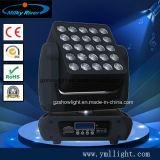 Berufsstadiums-der Beleuchtung-25PCS X12-Watt RGBW beweglicher Kopf der stadiums-Licht-Matrix-LED Vierradantriebwagen-der Farben-LED