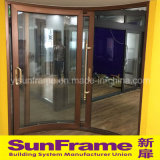 Алюминиевая дверь дуги для внутренне области