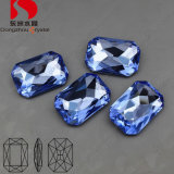 Sale quente Crystal Stones Capri Blue 3008 10*14mm para Clothes Decoration