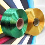 Farben-Polyester POY-Garn 250/48 Schwarzes, Schmiere färbte Schwarzes Polyester POY-250/48