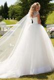 Платье венчания Tulle поезда молельни 0020 Шарик-Мантий уникально с отбортовывать Sequins