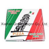 Weiß außen und natürlicher/Kraftpapier-Innenpizza-Kasten (PB160612)